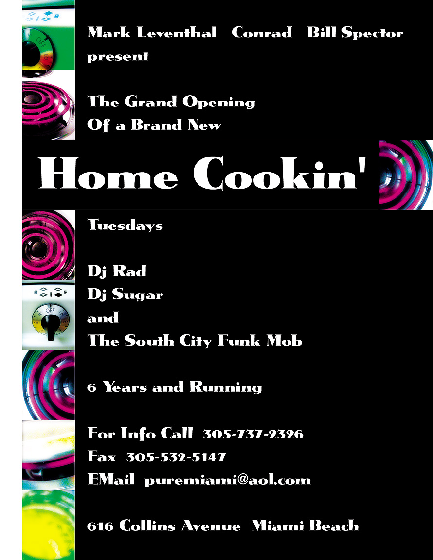 Home Cooking Tuesdays at Groove Jet