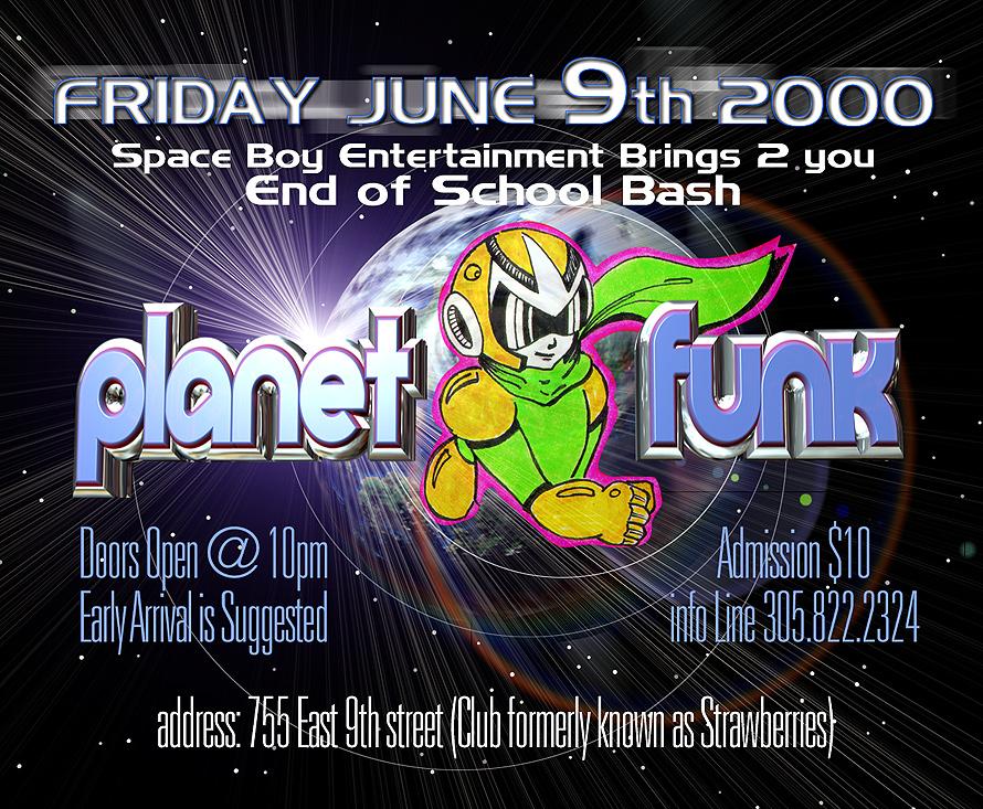 Planet Funk End of School Bash