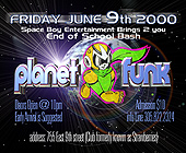 Planet Funk End of School Bash - tagged with info line