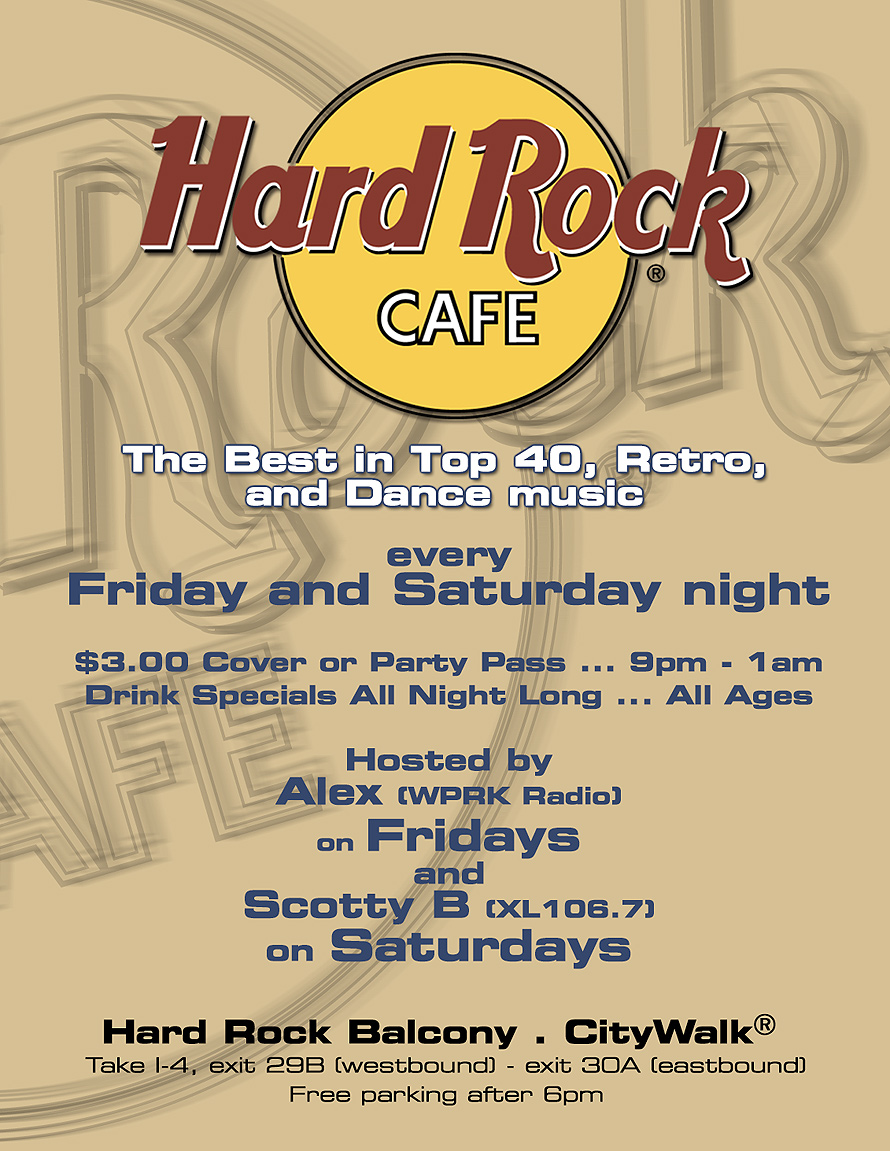 Summer Balcony Bash at Hard Rock Cafe
