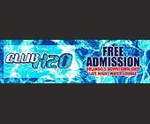 Club H2O Free Admission - created June 02, 2000