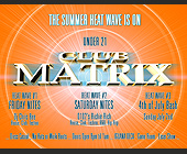 Summer Heat Wave Event at Club Matrix - tagged with saturday nights