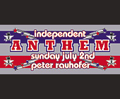 Independent Anthem at Crobar - 1050x2550 graphic design