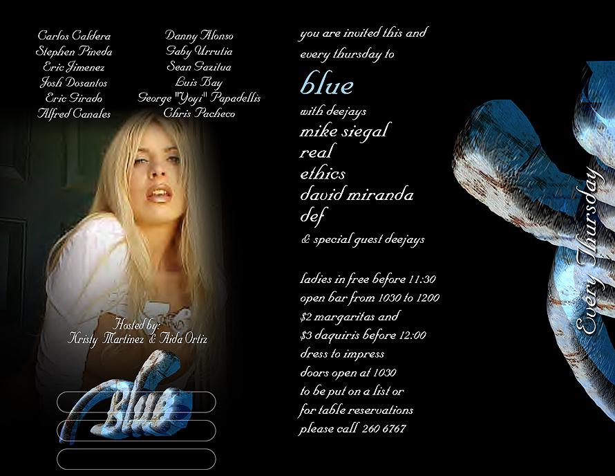 Blue at La Gloria Coconut Grove