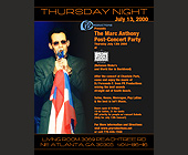 Marc Anthony at The Living Room and Cotton Club - tagged with the living room
