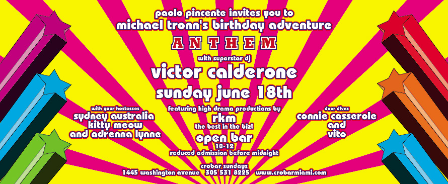 Anthem Michael Tronn's Birthday at Crobar