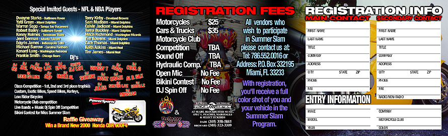 Black Cat Entertainment Presents Summer Slam 2 Wheel 2000 Bike Expo