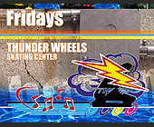 Thunder Wheels Skating Center Mad House Party - Skating Graphic Designs