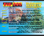 Top Dog Sports Bar Schedule - created July 10, 2000