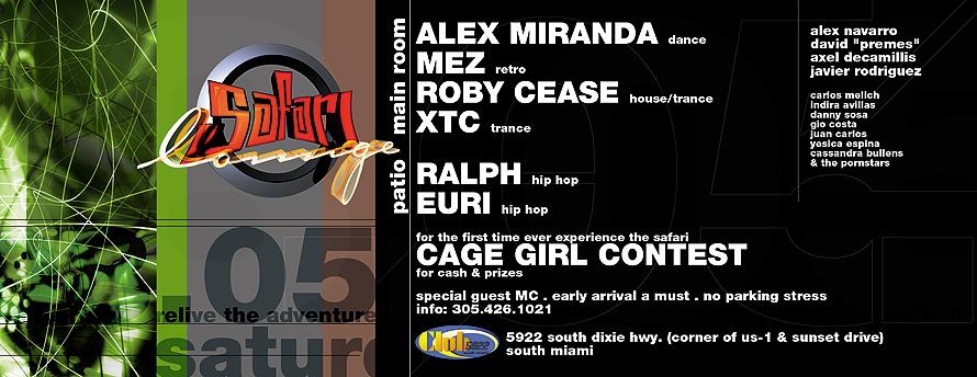 Safari Lounge Cage Girl Contest at Club 5922