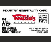 Tootsie's Industry Hospitality Card - Nightclub
