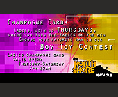 Champagne Card Boy Toy Contest at The North Shore Beach Club - Nightclub