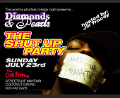 Diamonds and Pearls Shut Up Party - tagged with ladies free til 11