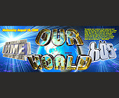 Our World at Club Bongos - 1275x3300 graphic design