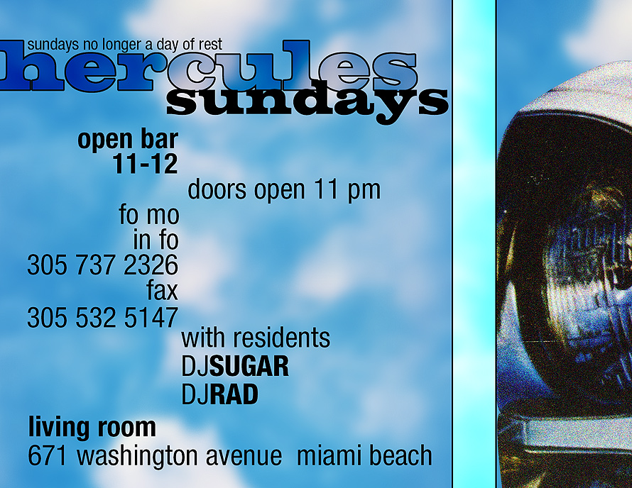 Hercules Sundays at Living Room in Miami Beach