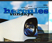 Hercules Sundays at Living Room in Miami Beach - Miami Flyers Graphic Designs