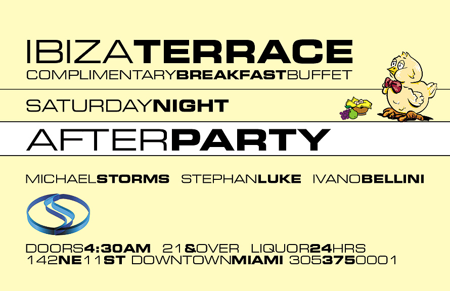 Saturday Night After Party at Club Space