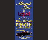 Miami Live at Liquid - tagged with parking no problem
