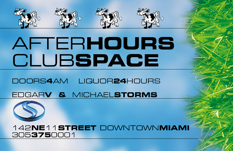 After Hours Friday Night at Club Space