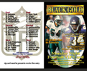 Black Gold Monday Night Football VIP Card - Black Gold Adult Club Graphic Designs