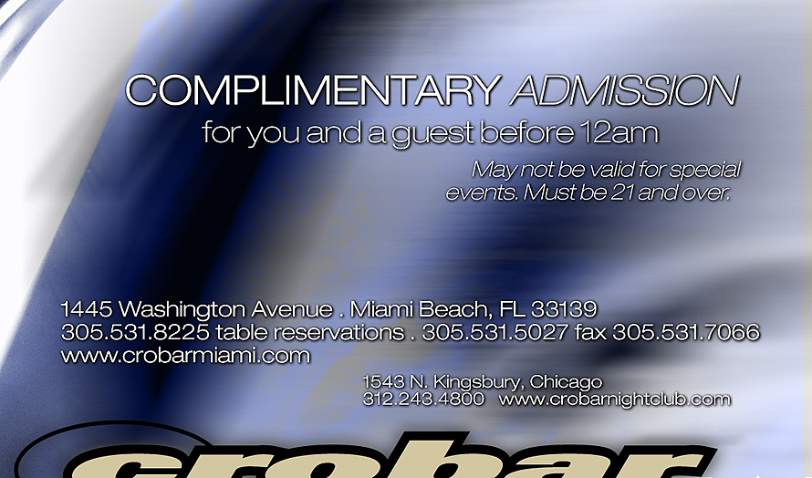 Complimentary Admission at Crobar