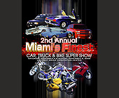 Miami's Finest Car Truck and Bike Super Show - 2261x2926 graphic design