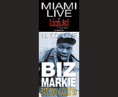 Biz Markie at Liquid Miami Beach - tagged with parking no problem