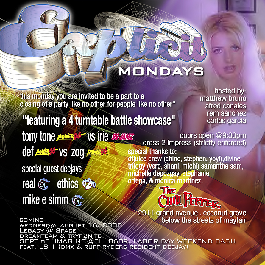 Explicit Mondays at The Chili Pepper