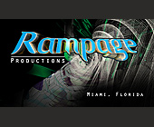 Rampage Productions Business Card - tagged with Vector grid