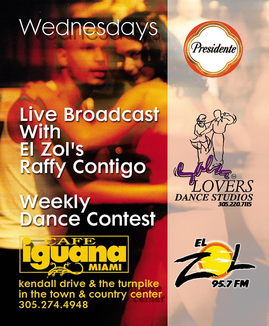 Noche Hispana Wednesday at Cafe Iguana Miami