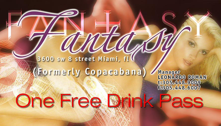 Fantasy Free Drink Pass