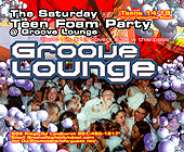 Teen Foam Party at Groove Lounge - tagged with 4.25 x 3.5
