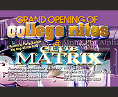 Grand Opening of College Nights at Club Matrix - tagged with abstract art