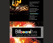 Billboard Live Concert on the Beach - 2125x2750 graphic design