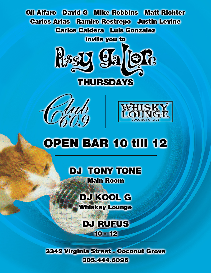 Pussy Gallore Thursdays at Club 609