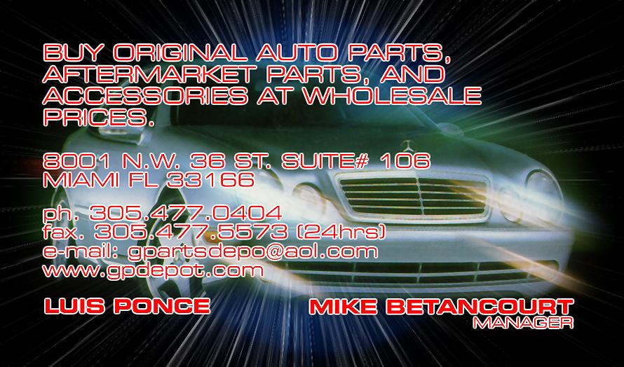 General Parts Depot Corp Wholesale Auto Parts