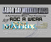 Labor Day at Club Matrix - tagged with nj
