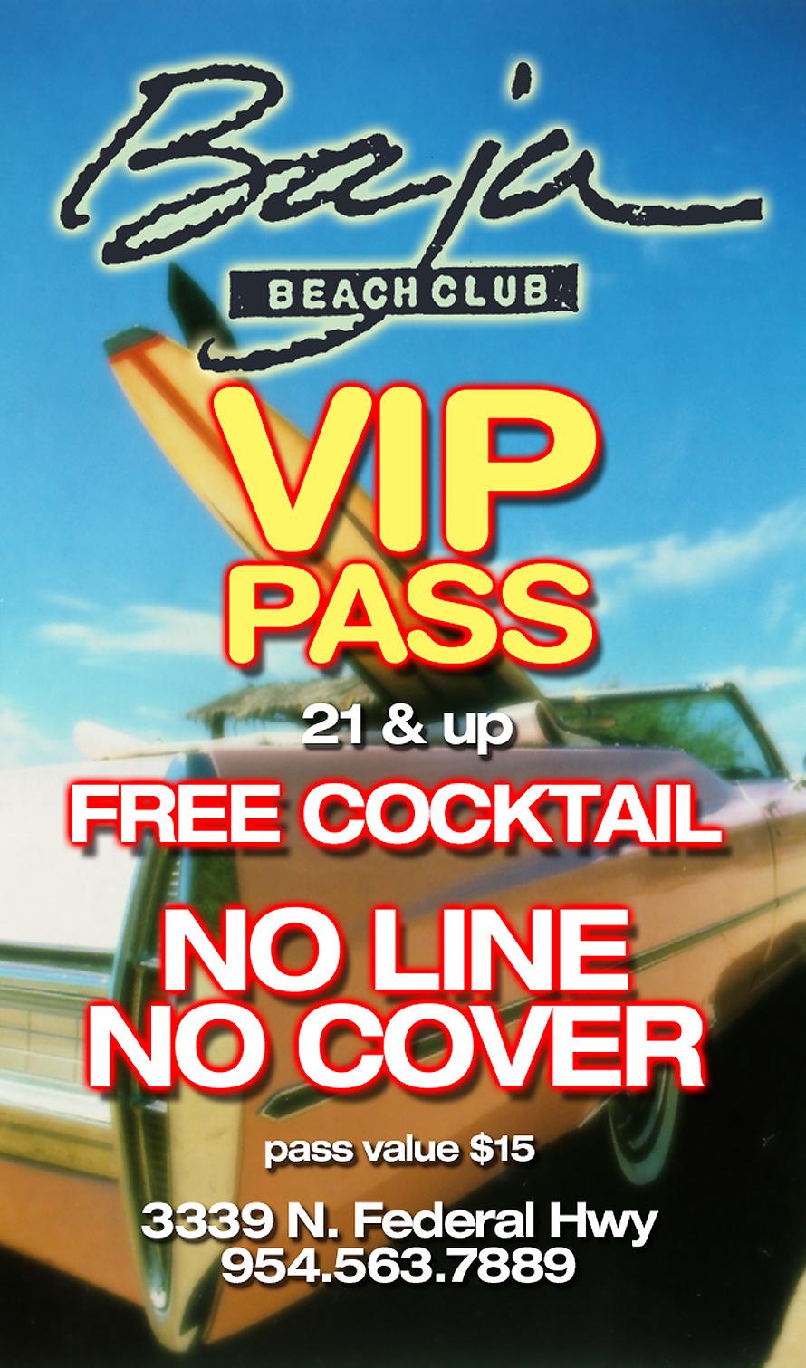 Baja Beach Club VIP Card