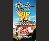 Baja Beach Club VIP Card - tagged with automobile