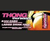 Thong Thursdays at Cafe Iguana and Double D Thursdays at Fat Kats - tagged with thong