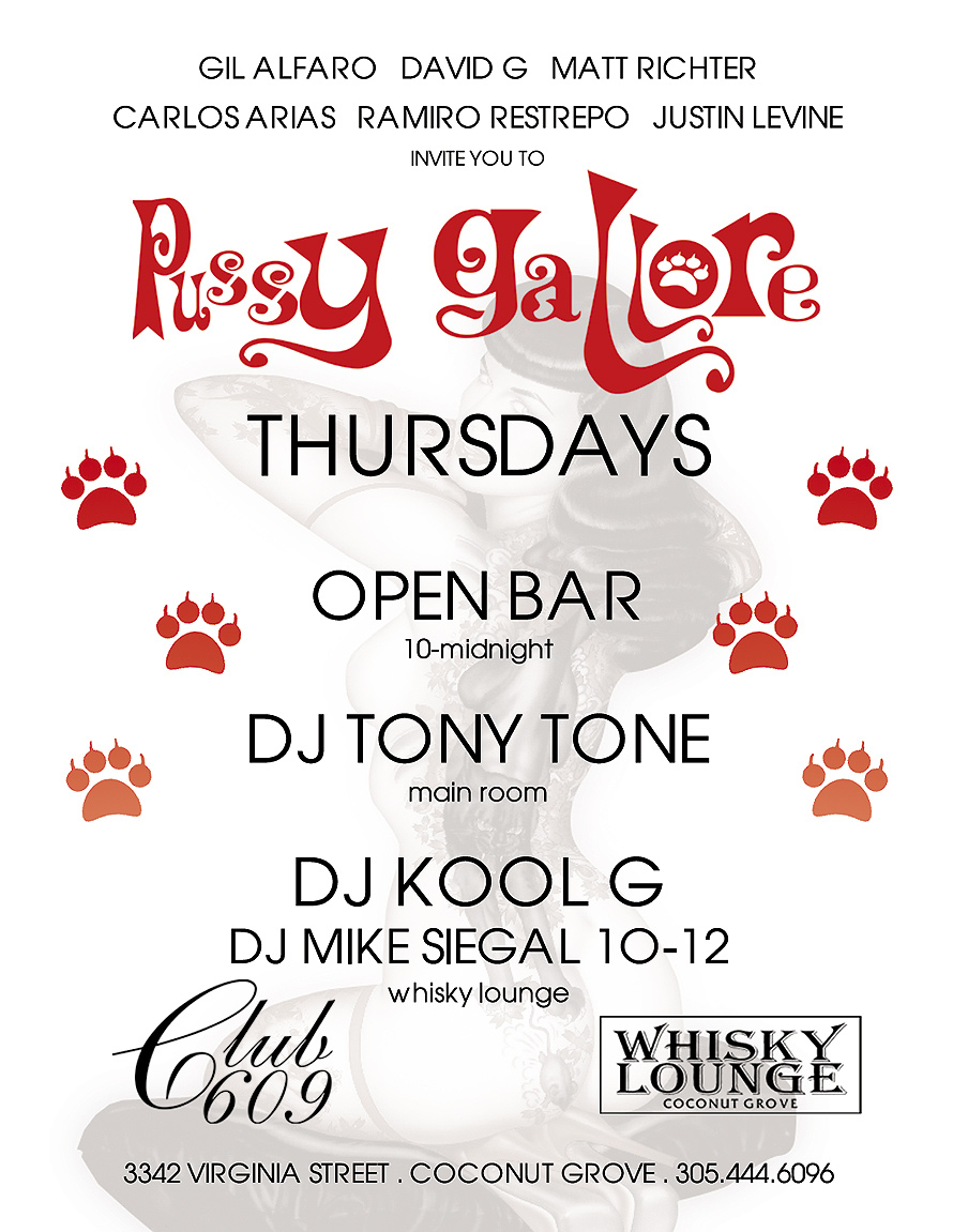Pussy Gallore Thursdays at Whisky Lounge