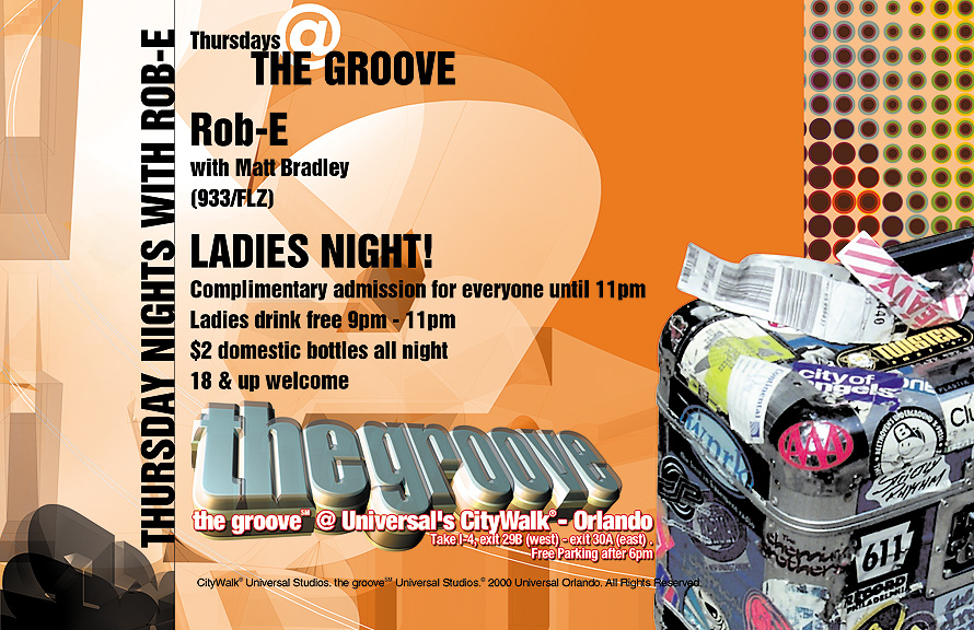 The Groove at CityWalk with Rob-E