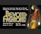 Beyond Fashions Promotion Business Card - Fashion