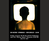 Ed Matus' Struggle and Lunabelle at Churchill's Hideaway - Flyer Printing