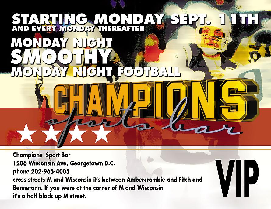 Monday Night Smoothy at Champions Sports Bar