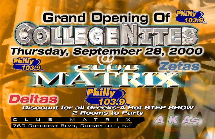 College Night Grand Opening at Club Matrix