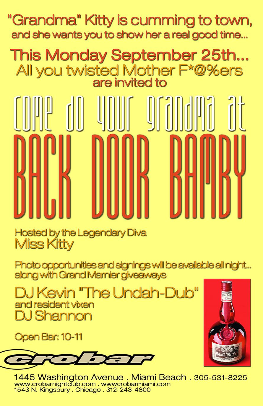 Back Door Bamby Event at Crobar