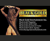 Black Gold Entertainment Inc. - Black Gold Adult Club Graphic Designs