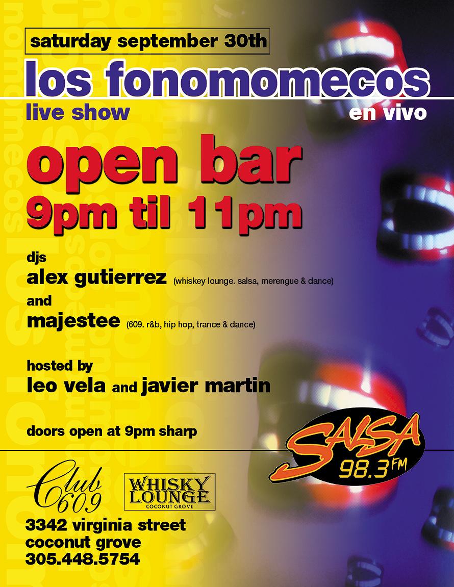 Los Fonomomecos Live Show at Club 609