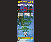 Big Things All Inclusive Party at Rascals - Rascals Graphic Designs